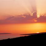 Západ slunce v Mandre