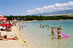 Pláž Zrće, ostrov Pag