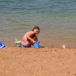 Povljana - písečná pláž, ostrov Pag, Chorvatsko