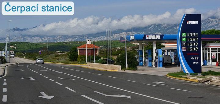 Čerpací stanice - Pag, Chorvatsko