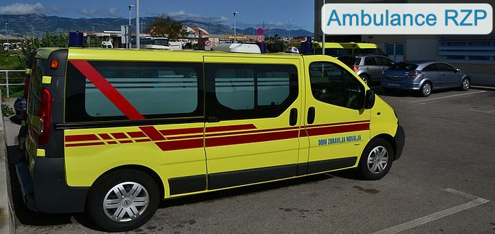 Ambulance a zdravotní pomoc - Pag, Chorvatsko