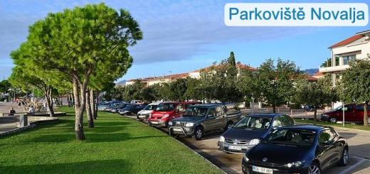 Parkoviště Novalja