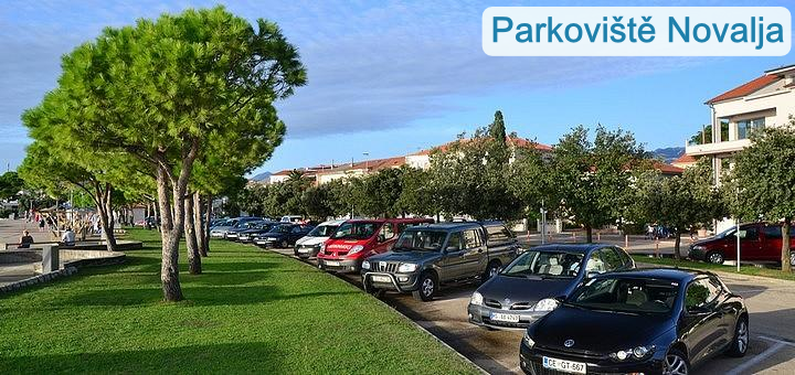 Parkování Novalja - Pag