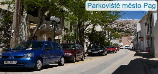 Parkoviště město Pag