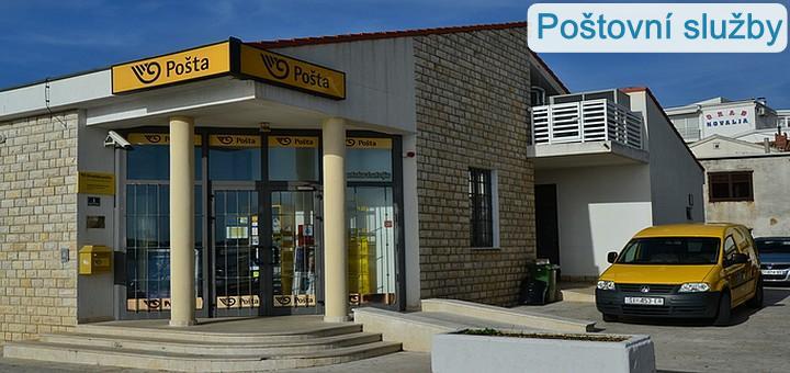 Pošty a poštovní služby na Pagu