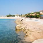 Dinjiška - pláže, ostrov Pag, Chorvatsko