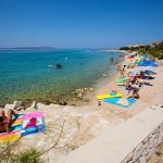 Mandre - pláže, ostrov Pag, Chorvatsko